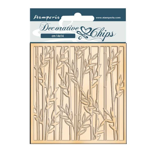 Stamperia Decorative chips - Sir Vagabond In Japan Bamboo
