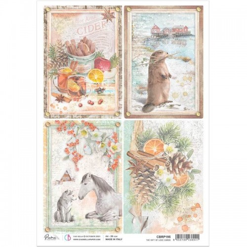 Papel de arroz Ciao Bella. The Give of Love. Cards