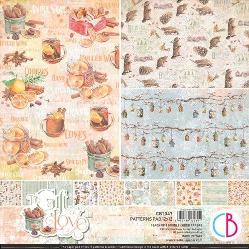 Kit de Papeles Básicos (Patterns) 30 x 30 Ciao Bella - The Gift of Love