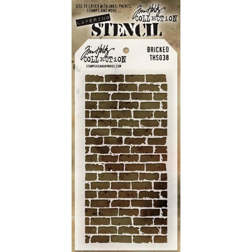 Tim Holtz Layered Stencil - Bricked