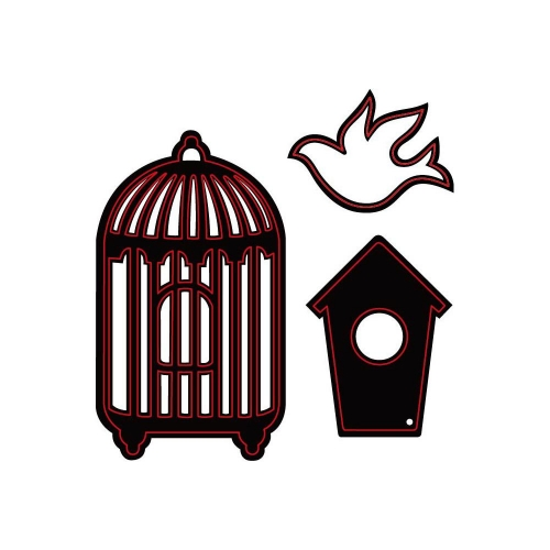Darice Embossing Essentials Dies. Bird and Cages