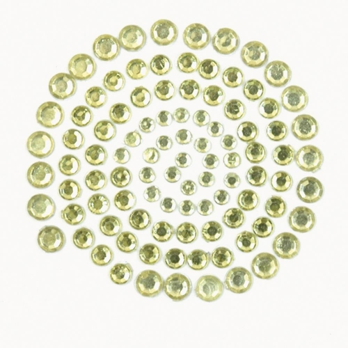 KAISERCRAFT-Self-Adhesive Rhinestones. Yellow & Green
