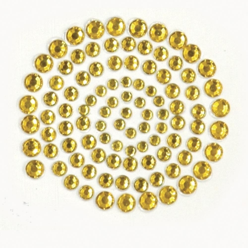 KAISERCRAFT-Self-Adhesive Rhinestones. Deep Yellow