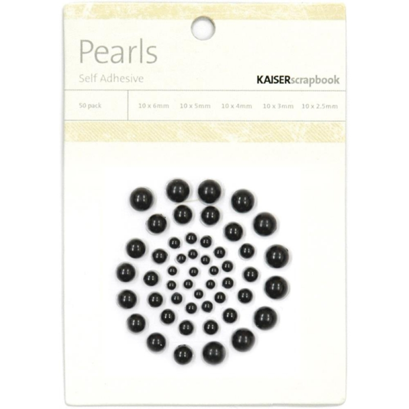 KAISERCRAFT-Self-Adhesive Pearls. Black