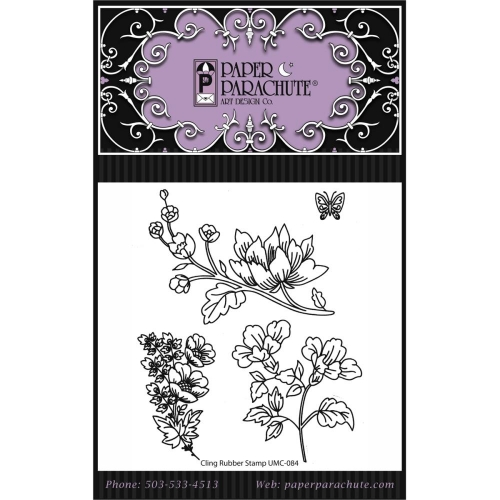 Paper Parachute-Cling Rubber Stamps. Set 84