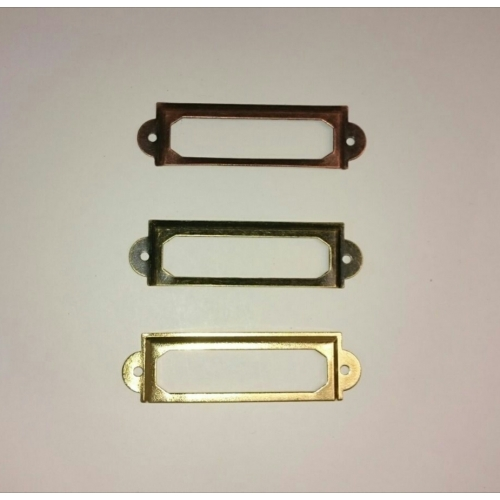 Metallic label holders - 3 uds.