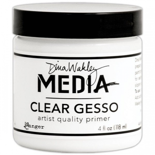 Dina Wakley Media Gesso Clear 4Oz