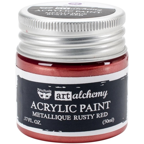 Finnabair Art Alchemy Acrylic Paint - Metallique Rusty Red