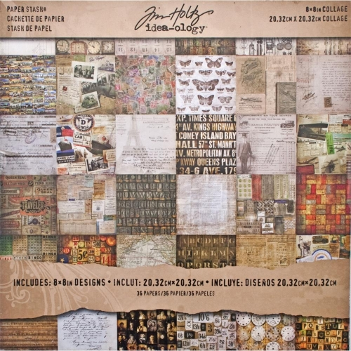 Idea-Ology Paper Stash Double-Sided Paper Pad 20X20 - Collage