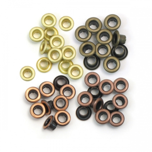 Eyelets aluminium copper warm metal standard.