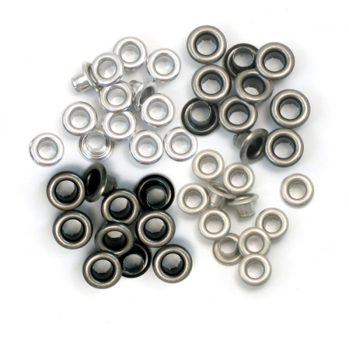 Eyelets aluminium copper cool metal standard.