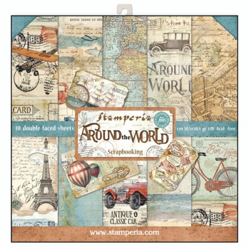 Kit de papeles de Scrapbooking Stamperia - Around the world