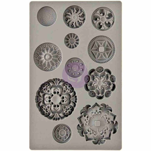 Iron Orchid Designs Vintage Art Decor Mould - Medallions