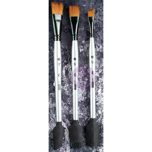 Finnabair Art Basics Double-Ended Brush Set - Texture 1