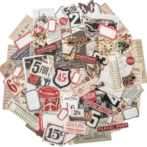 Idea-Ology Ephemera Pack - Snippets Tiny Die-Cuts