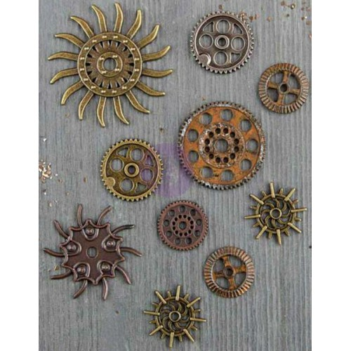 Finnabair Mechanicals Metal Embellishments - Steampunk Gears