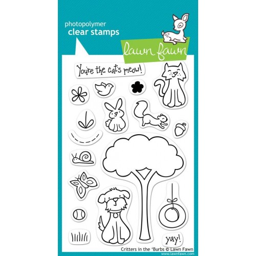 Lawn Fawn Clear Stamps - Critters In the 'Burbs