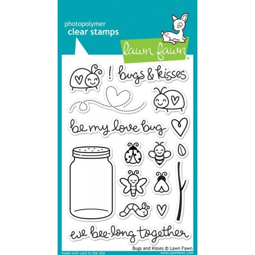Lawn Fawn Clear Stamps - Bugs and Kisses