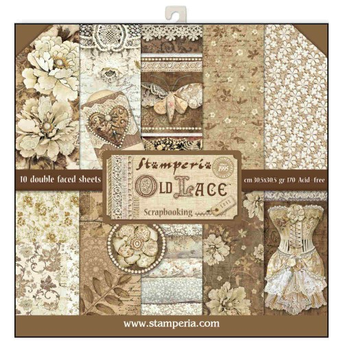Kit de papeles de Scrapbooking Stamperia - Old Lace