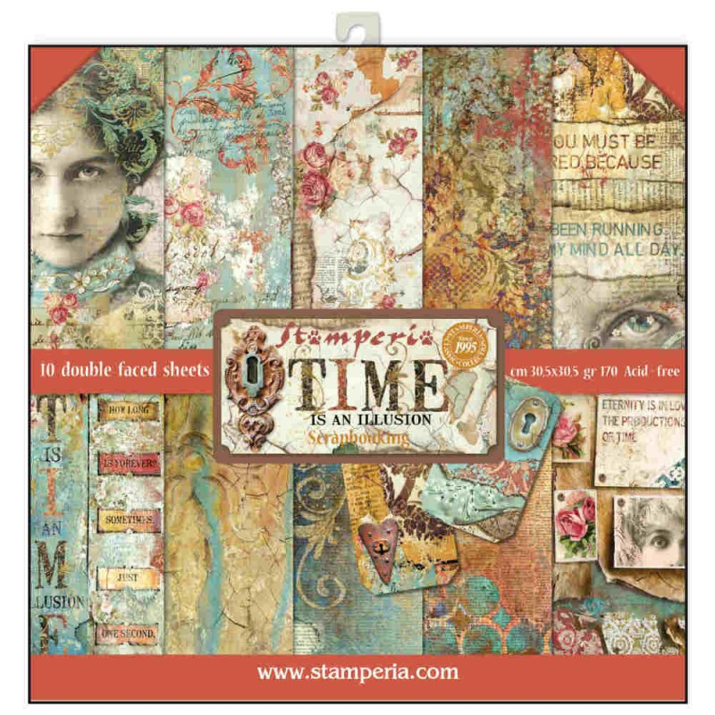 Kit de papeles de Scrapbooking Stamperia - Time is an Ilusion