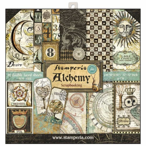 Kit de papeles de Scrapbooking Stamperia - Alchemy
