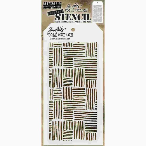 Tim Holtz Layered Stencil - Thatched