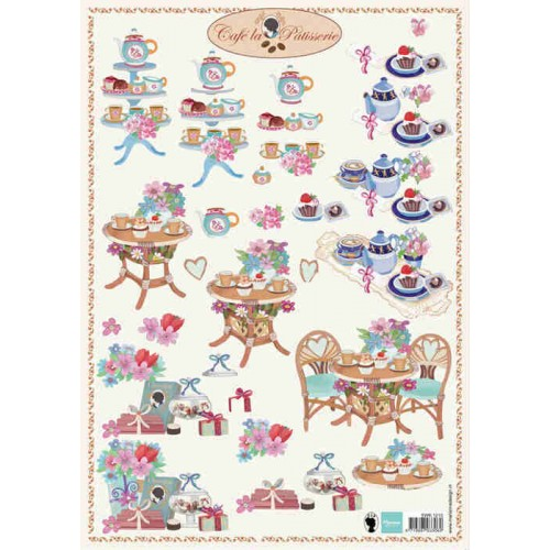 Marianne Design - Cafe La Patisserie 2. Decoupage