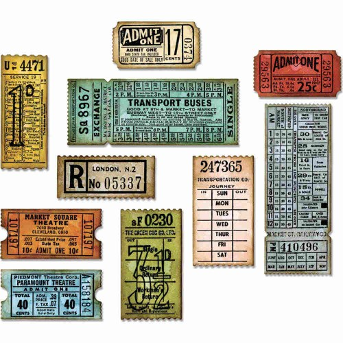 Set de 6 troqueles THINLITS Ticket booth by Tim Holtz